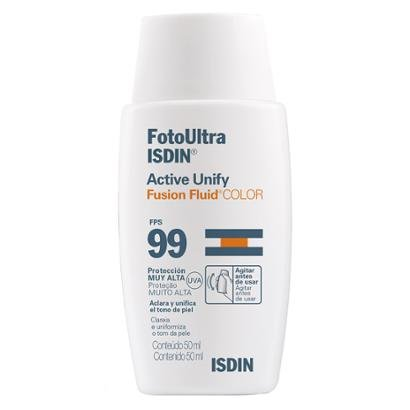 Clareador Facial Isdin - FotoUltra Active Unify Fusion Fluid Color FPS 99 50ml