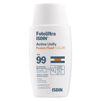 Clareador Facial Isdin - FotoUltra Active Unify Fusion Fluid Color FPS 99 50ml
