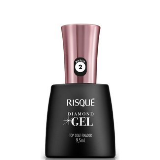 Cobertura Fixadora Risqué Diamond - Top Coat Efeito Gel - 9,5ml