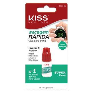Cola Para Unha Kiss New York Secagem Rápida