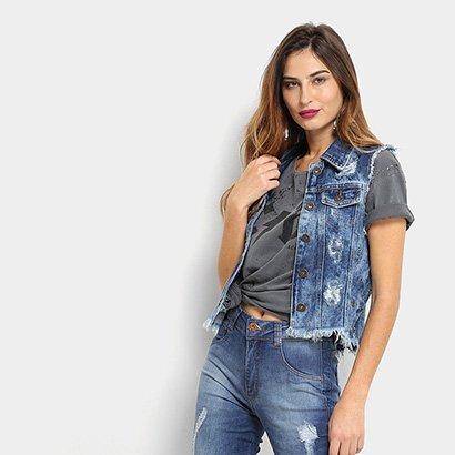Colete Jeans Biotipo Ilhós Feminino