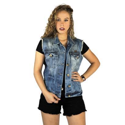 Colete Jeans Clothify Marmorizado Feminino