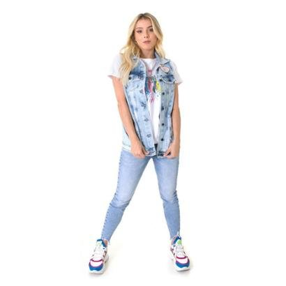 Colete Jeans Opera Rock Feminino