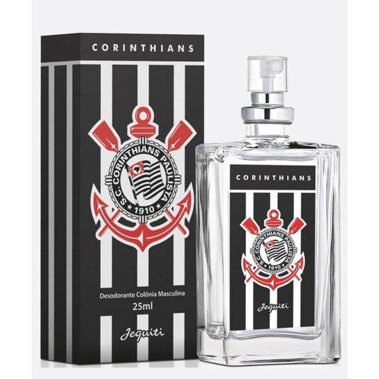Colônia Desodorante Jequiti Corinthians 25ml Masculina - Preto