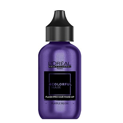 Coloração Temporária L'Oréal Professionnel Colorful Hair FlashPro Hair Make-Up Cor Roxo Reign 60ml