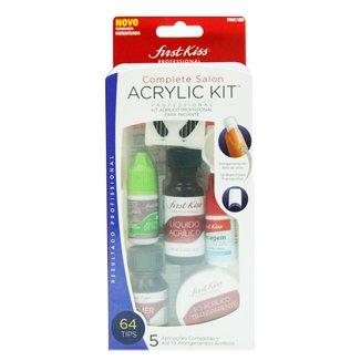 Complete Salon Acrylic Kit First Kiss - Kit para Aplicação de Unhas Acrílicas Kit