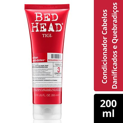 Condicionador Bed Head Urban Antidotes Resurrection Reparação 200Ml-Feminino