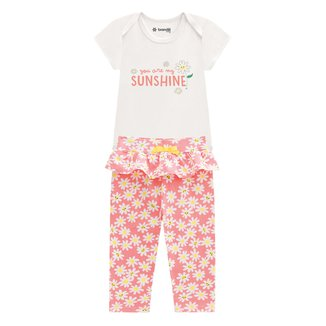 Conjunto Bebê Brandili Sunshine Feminino