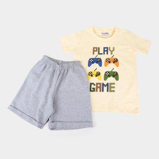 Conjunto Bebê Candy Kids Gamer Masculino