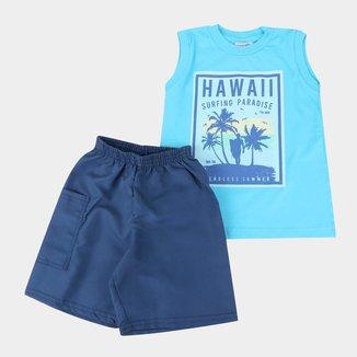 Conjunto Bebê Candy Kids Hawaii Masculino