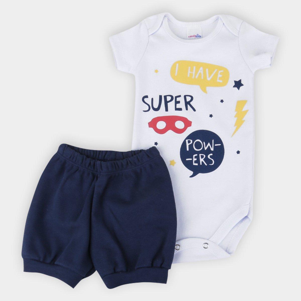 Conjunto Bebê Candy Kids Super Powers