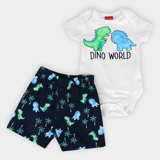 Conjunto Bebê Kyly Dino World Masculino