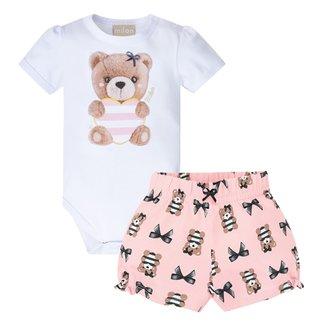 Conjunto Bebê Milon Estampado Cotton Feminino
