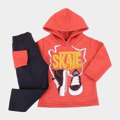 Conjunto Bebê Pipa Skate Capuz Masculino