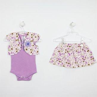 Conjunto Bebê  Verão Saia FloralP