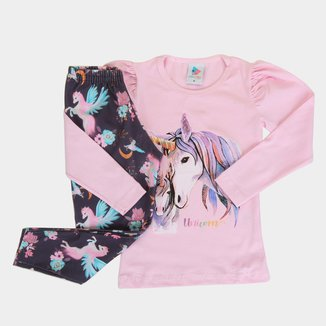 Conjunto Blusa Cotton e Legging Favinho Mia Kids-44254