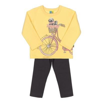 Conjunto Casaco E Calça Bebê Moletom Bee Loop Feminino-Feminino