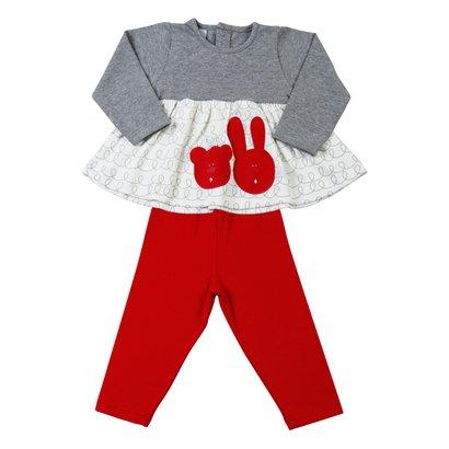 Conjunto de Bebê Cotton Coelha e Ursinha