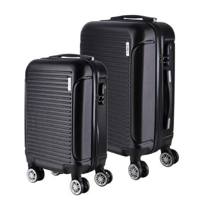 Conjunto de Malas de Viagem 2Pcs P/M em ABS Yins Rodas Duplas e Cadeado Integrado
