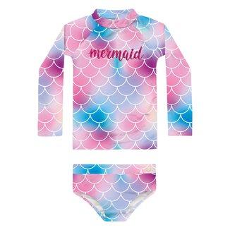 Conjunto de Praia Infantil Fakini Proteção UV 50+ Tie Dye Feminino