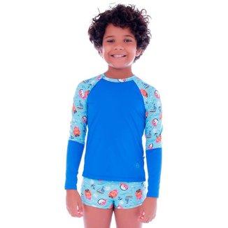 Conjunto de Proteção UV Infantil Piratinhas  Cecí