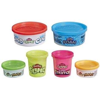 Conjunto de Slimes Mundo de Texturas Play-Doh