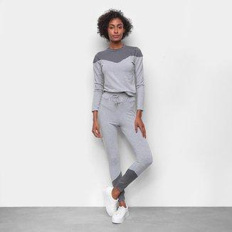Conjunto ESV Blusa e Calça Moletinho Feminino