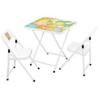 Conjunto Fantasia Mesa Infantil Açomix 2 Cadeiras