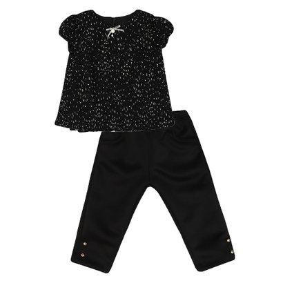 Conjunto Feminino Bebê Blusa e Calça Plissado