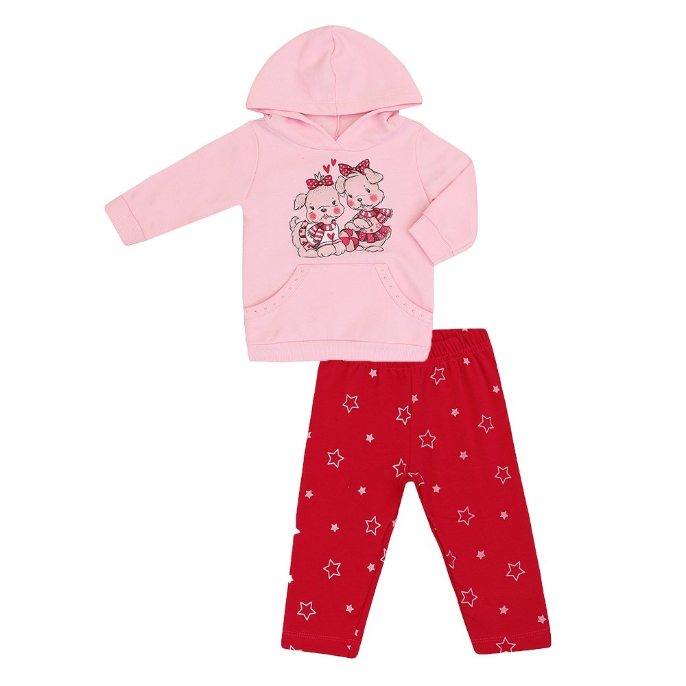 Conjunto Feminino Bebê Moletom com Capuz - Rosa - Compre Agora  a4db57b9b395