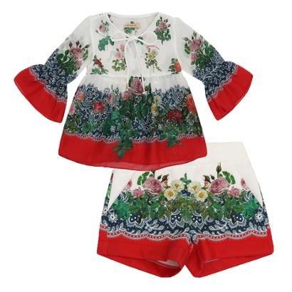 Conjunto Infantil Bata E Short Floral