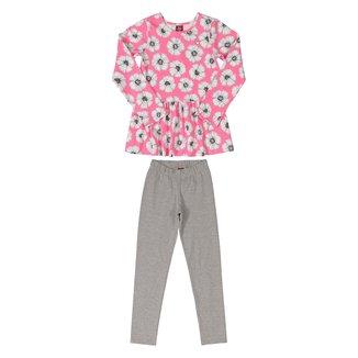 Conjunto Infantil Bee Loop Floral Blusa + Calça Feminino