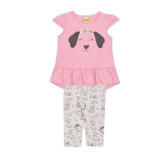 Conjunto Infantil Blusa e Legging  JACA-LELÉ Cachorrinha Feminino