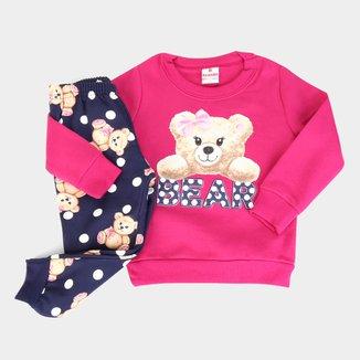 Conjunto Infantil Brandili Bear  Moletom + Legging Feminino