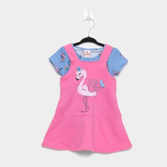 Conjunto Infantil Brandili Camiseta Flamingo