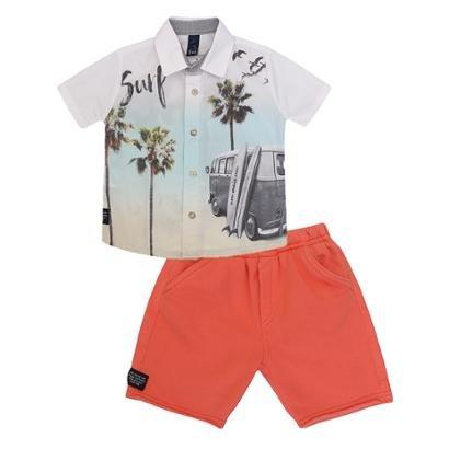 Conjunto Infantil Camisa Bermuda Kombi 1mais1 Masculino