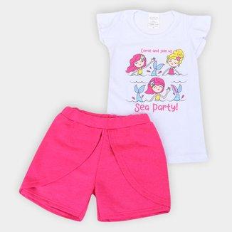 Conjunto Infantil Candy Kids Estampado Feminino