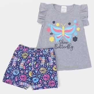 Conjunto Infantil Candy Kids Shine Feminino