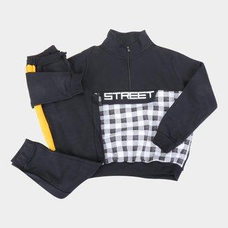 Conjunto Infantil Costão Street Xadrez Masculino