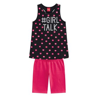Conjunto Infantil Curto Kyly Girl Talk Feminino