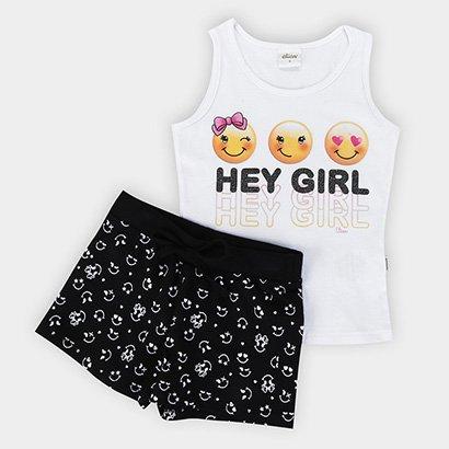 Conjunto Infantil Elian Hey Girl Feminino
