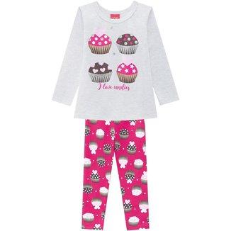 Conjunto Infantil Feminino Blusa + Legging Kyly 207380.6826.6 Kyly