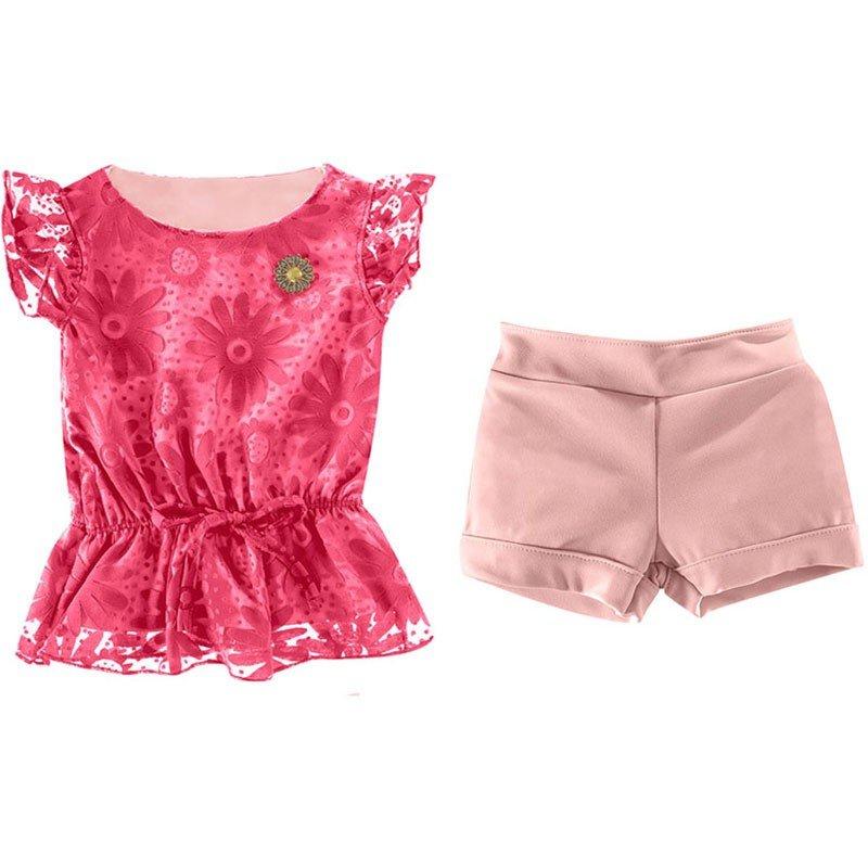 Conjunto Infantil Feminino Colorittá - Rosa - Compre Agora  694df333d3f7e