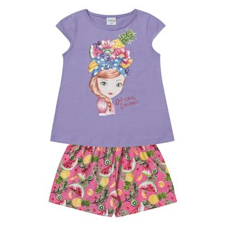Conjunto Infantil For Fun by Fakini Delicious Summer Blusa + Short Feminino