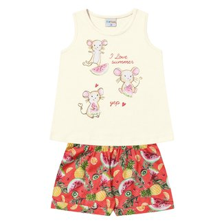 Conjunto Infantil For Fun by Fakini Estampado Feminino