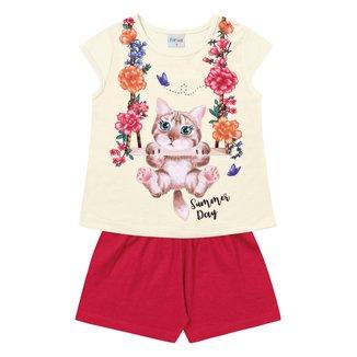 Conjunto Infantil For Fun by Fakini Estampado Feminino