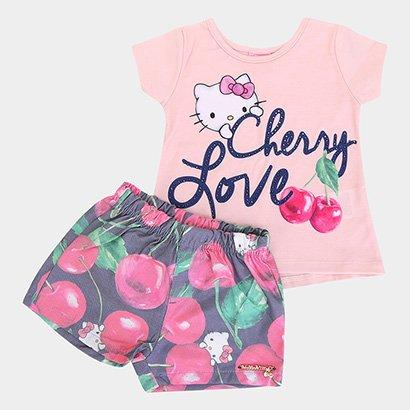 Conjunto Infantil Hello Kitty Cherry Love Feminino