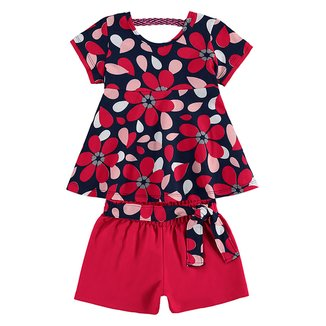 Conjunto Infantil Hering Blusa E Shorts Moletinho Feminino