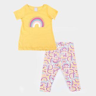 Conjunto Infantil Hering Kids Blusa + Legging Feminino