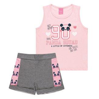 Conjunto Infantil Kamylus Panda Feminino